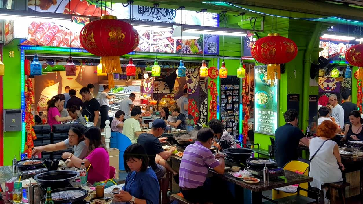 Streetfood in Chinatown, Singapur