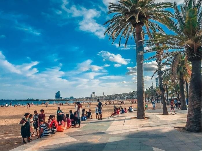 Barcelona has nothing to jealous from California seafront