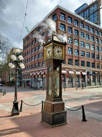 Steamclock in Gastown 2020