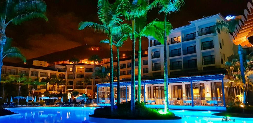 Abends am Pool, Hotel Porto Mare, Funchal