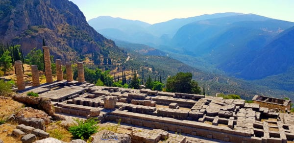 Der Apollo Temple, Delphi