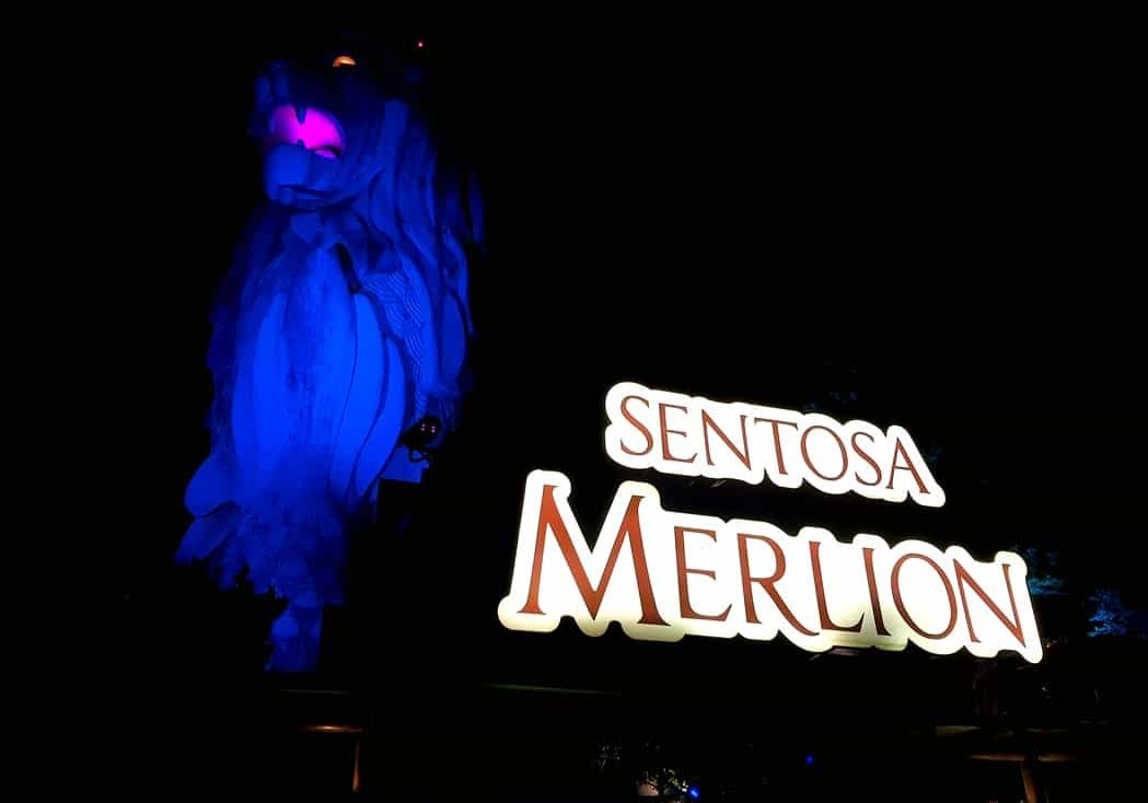 The Merlion auf Sentosa